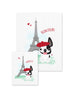 Bonjour/Merci 12 Card French Bulldog Eiffel Tower Set - French Bulldog Love - 11