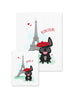 Bonjour/Merci 12 Card French Bulldog Eiffel Tower Set - French Bulldog Love - 13