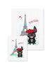 Bonjour/Merci 12 Card French Bulldog Eiffel Tower Set - French Bulldog Love - 14