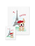 Bonjour/Merci 12 Card French Bulldog Eiffel Tower Set - French Bulldog Love - 2