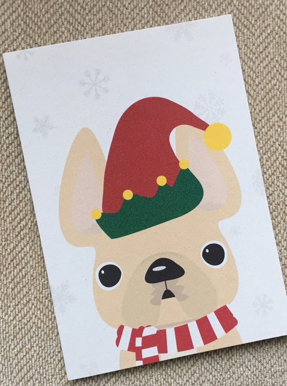 Elf French Bulldog Holiday Card - French Bulldog Love - 18