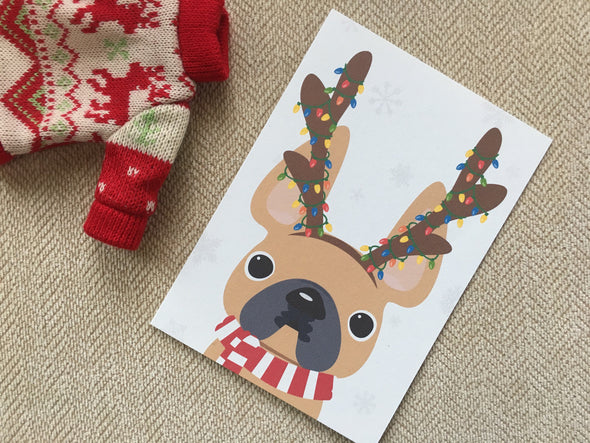 Festive Frenchies 15 Card Holiday Box Set - French Bulldog Love - 21
