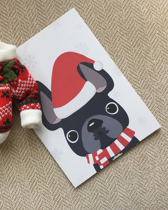 Little Santa French Bulldog Holiday Card - French Bulldog Love - 18