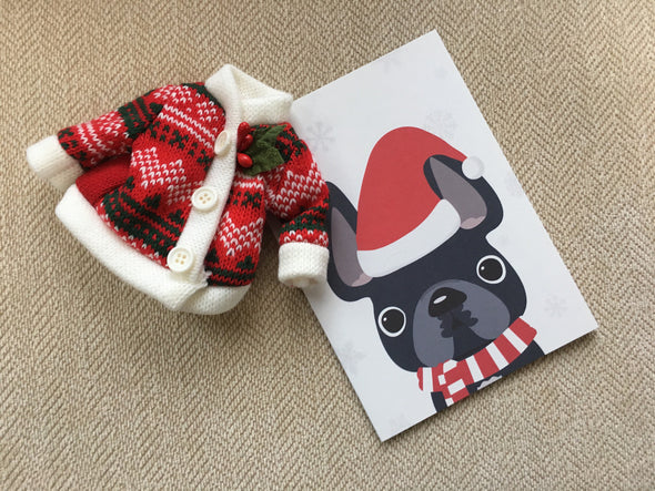 Festive Frenchies 15 Card Holiday Box Set - French Bulldog Love - 20