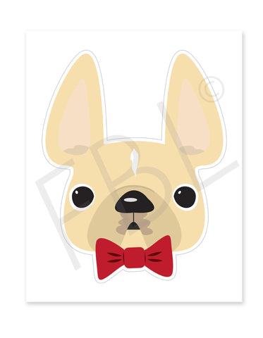 Cream Dapper / Large French Bulldog Sticker - French Bulldog Love