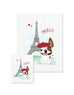 Bonjour/Merci 12 Card French Bulldog Eiffel Tower Set - French Bulldog Love - 3