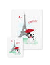 Bonjour/Merci 12 Card French Bulldog Eiffel Tower Set - French Bulldog Love - 4