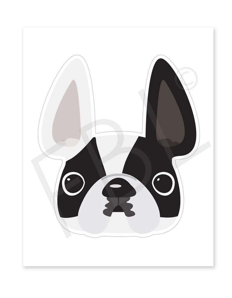 Vinnie / Large French Bulldog Sticker - French Bulldog Love