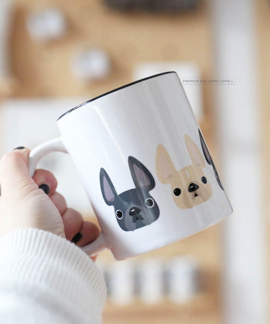 FIVE LITTLE FRENCHIES - MARBLE - French Bulldog Coffee Mug