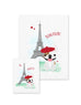 Bonjour/Merci 12 Card French Bulldog Eiffel Tower Set - French Bulldog Love - 7