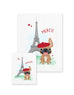 Bonjour/Merci 12 Card French Bulldog Eiffel Tower Set - French Bulldog Love - 8