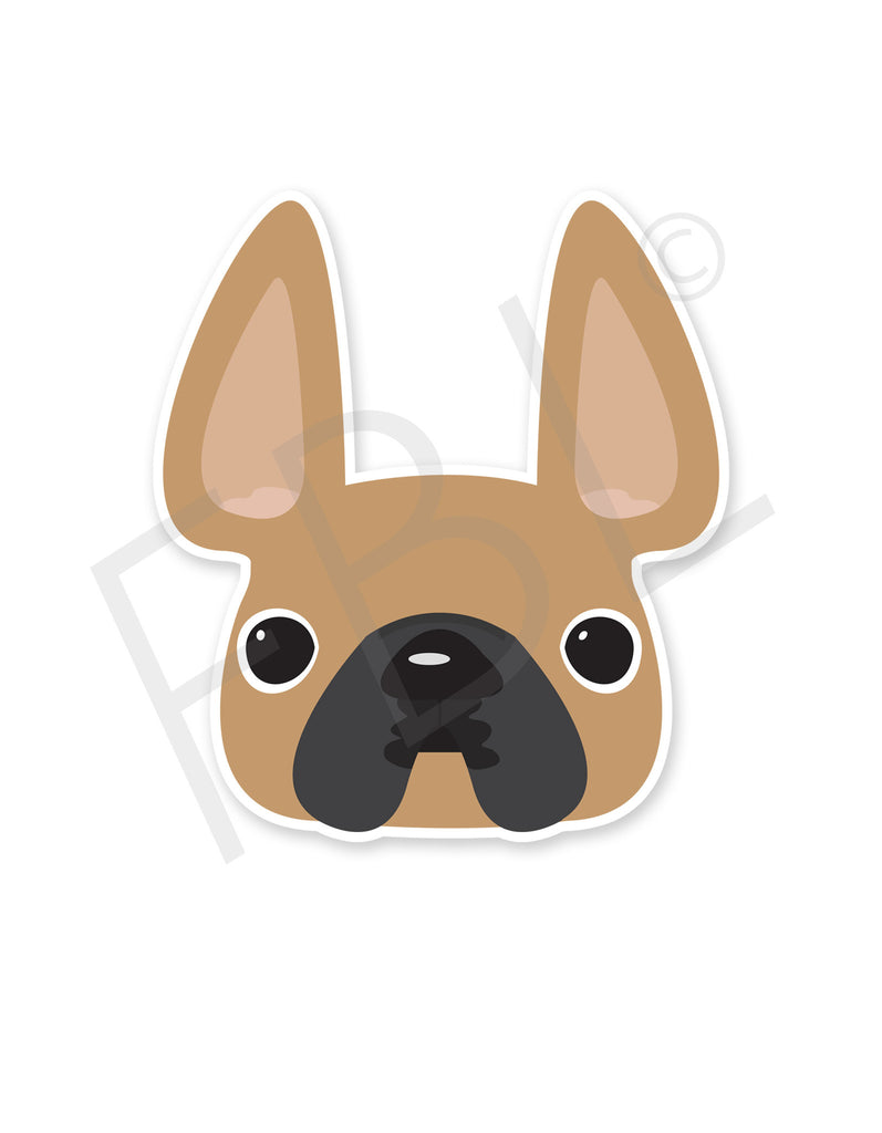 Fawn / French Bulldog Mini Sticker - French Bulldog Love - 1