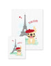 Bonjour/Merci 12 Card French Bulldog Eiffel Tower Set - French Bulldog Love - 9