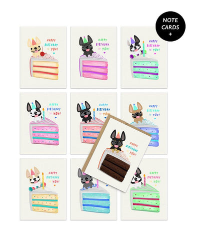 Birthday Cake Note Card Set - Box of 12 or 24
