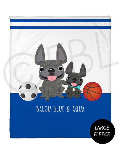 FBL Exclusive - @Baloublue - Balou & Aqua Fleece Blanket - Large