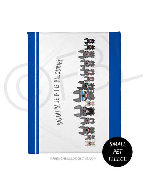 FBL Exclusive - @Baloublue - Balou & his Baloubies Fleece Blanket - Small