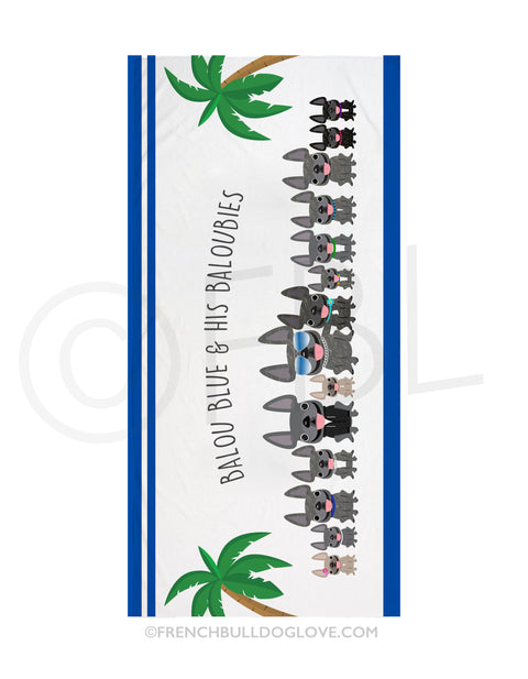 FBL Exclusive - @Baloublue - Balou & his Baloubies Beach Towel