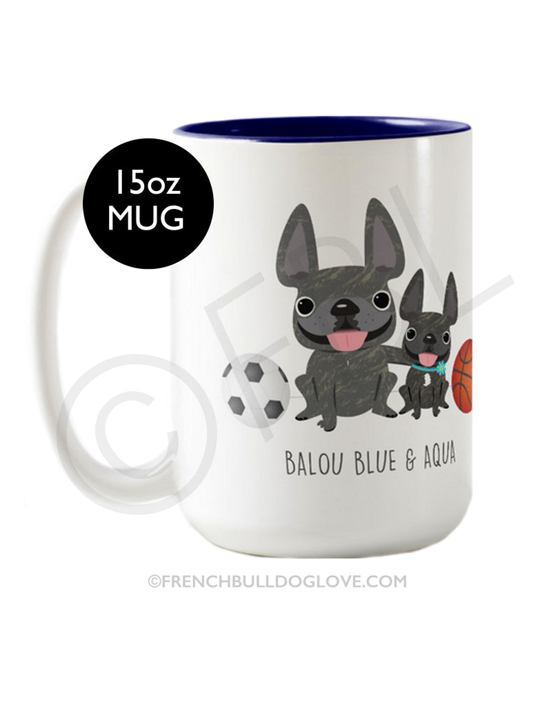 FBL Exclusive - @Baloublue - Balou & Aqua Coffee Mug 15oz