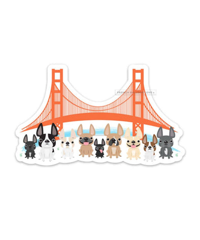 Bay Area Frenchies Magnet - Large