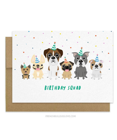 Birthday Squad - Doggy Birthday Card
