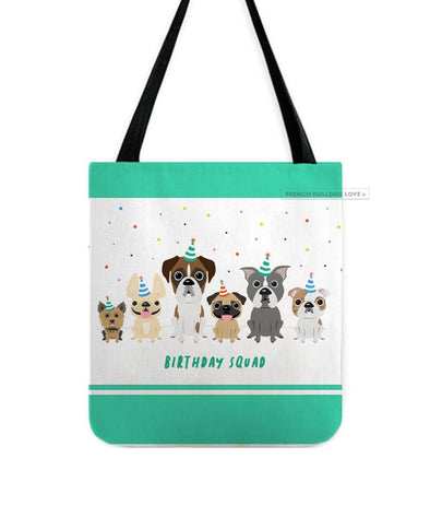 Birthday Squad - French Bulldog & Friends Birthday Tote Bag