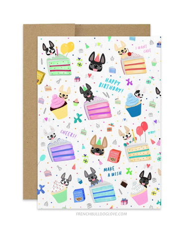 Birthday Celebration - Frenchie Birthday Card
