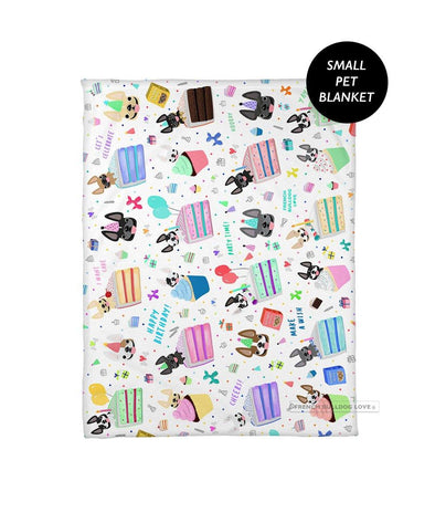 PRE-ORDER // Happy Birthday! Pet Fleece Blanket - Small