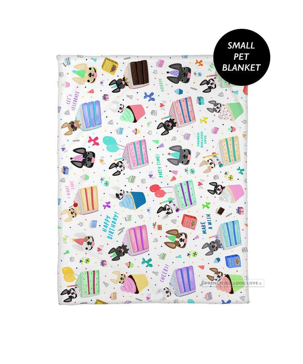 Happy Birthday! Pet Fleece Blanket - Small