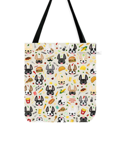 Bon Appetit! French Bulldog Tote Bag - Cream
