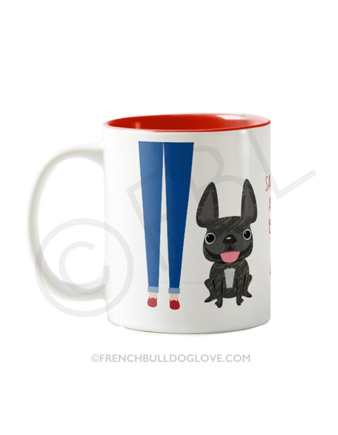 Girl's BFF / BRINDLE French Bulldog Mug
