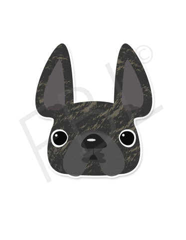 Brindle / French Bulldog Mini Sticker - French Bulldog Love - 4