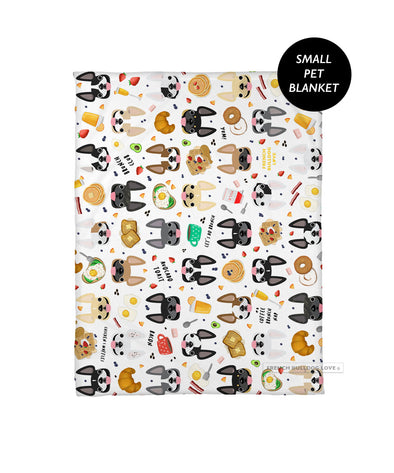 Brunch Time Pet Fleece Blanket - Small
