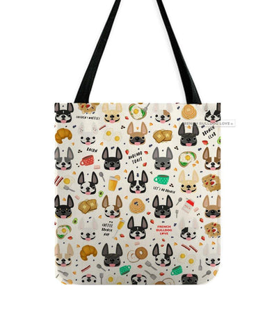 Brunch Time French Bulldog Tote Bag