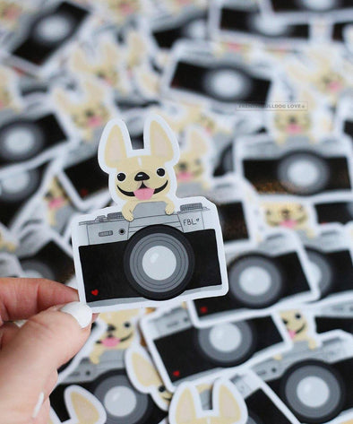 FRENCHIE PHOTOGRAPHER - WATERPROOF VINYL STICKER