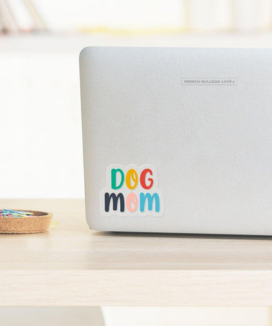 DOG MOM - CLEAR VINYL STICKER - WATERPROOF