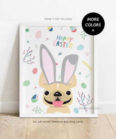 Easter Ears - Custom French Bulldog Easter Print - 8x10