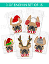 Festive Frenchies 15 Card Holiday Box Set - French Bulldog Love - 10
