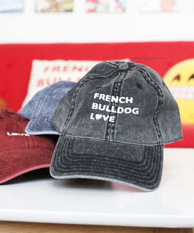 FBL Vintage Cap - Black - French Bulldog Love
