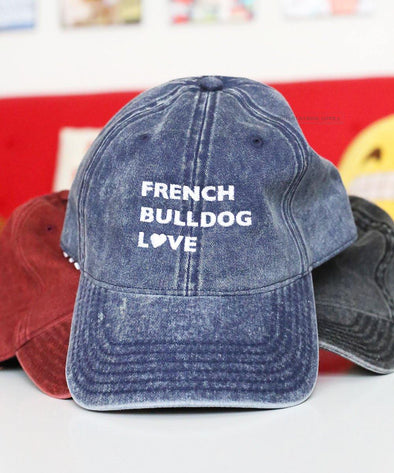 FBL Vintage Cap - Blue - French Bulldog Love