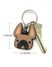 Frenchie Face Mini Keychain / Black with White Stripe - French Bulldog Love - 2