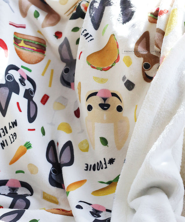 Bon Appetit! Pet Fleece Blanket - Small
