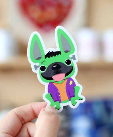 Frenchiestein - French Bulldog Halloween Vinyl Sticker