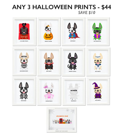 Set of 3 Halloween Prints - Mix & Match - Choose Your Prints & Save