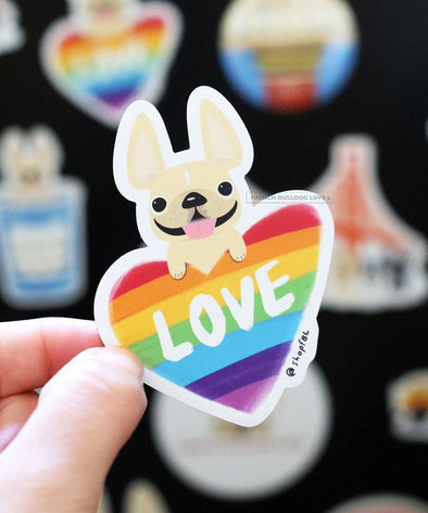 LOVE is LOVE Magnet - French Bulldog Magnet