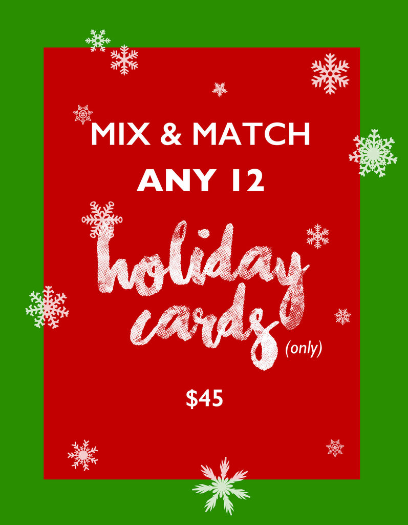 Mix & Match Any 12 HOLIDAY CARDS / BEST DEAL - French Bulldog Love - 1