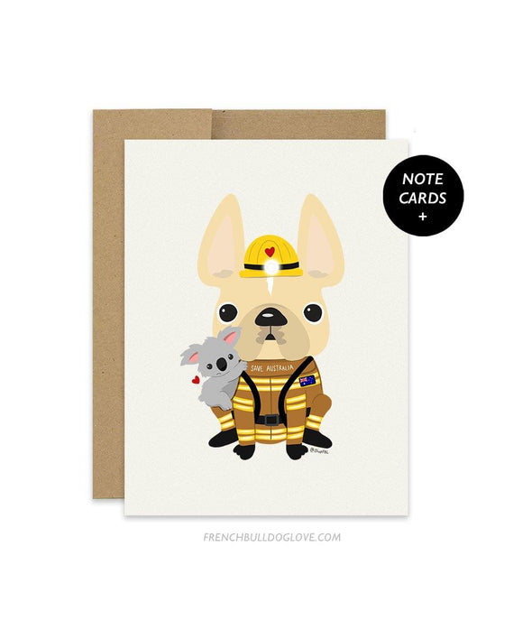 #SAVEAUSTRALIA French Bulldog Note Cards Box Set of 12