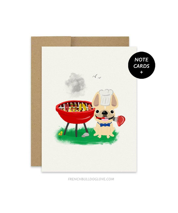 #100DAYPROJECT French Bulldog Note Cards Box Set of 12 - BBQ