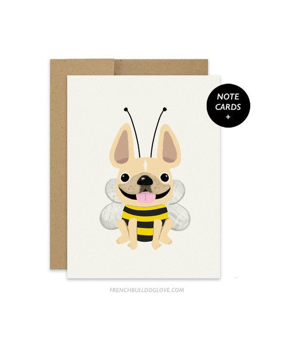 #100DAYPROJECT French Bulldog Note Cards Box Set of 12 - Bumble Bee