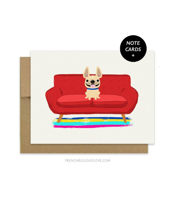 #100DAYPROJECT French Bulldog Note Cards Box Set of 12 - SOFA