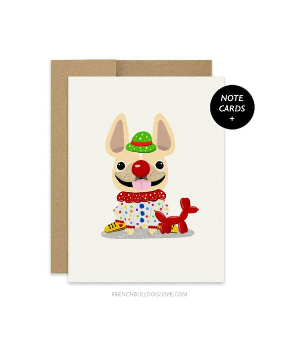 #100DAYPROJECT French Bulldog Note Cards Box Set of 12 - CLOWN
